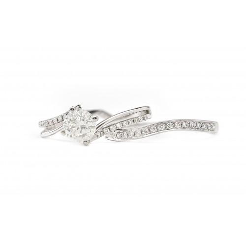 Interlocking Love Engagement Ring (750 White Gold)