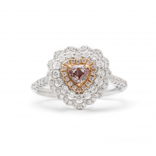 Pink of Hearts Diamond Ring (750 White Gold)