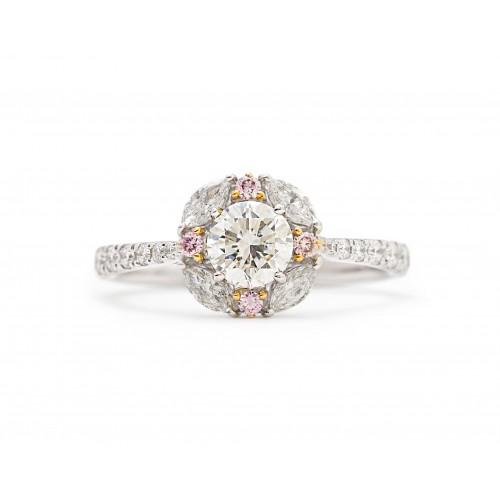 Floral Diamond Ring (750 White Gold)