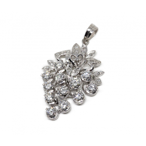 Diamond Pendant (375 White Gold)