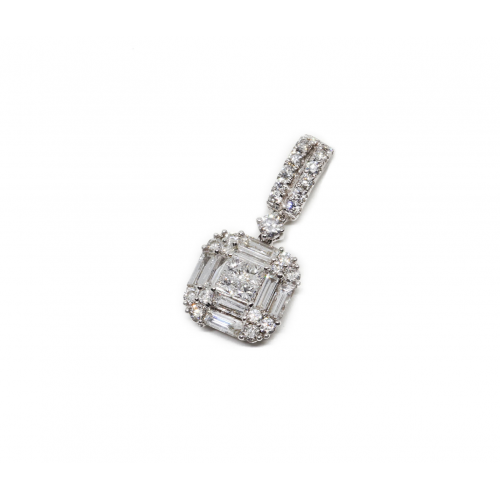 Diamond Pendant (750 White Gold)