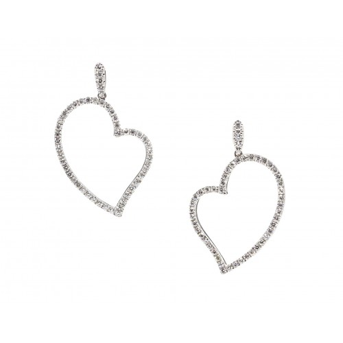 Endearing Love Diamond Earrings (750 White Gold)