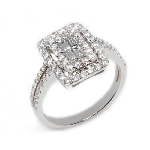 Diamond Ring (750 White Gold)