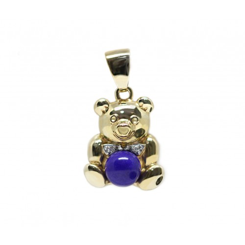 Bestie Teddy Pendant (750 Yellow Gold)
