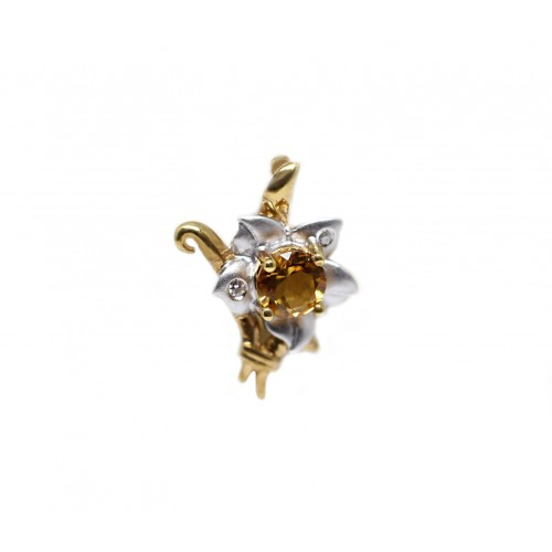 Citrine Diamond Pendant (750 Yellow Gold)