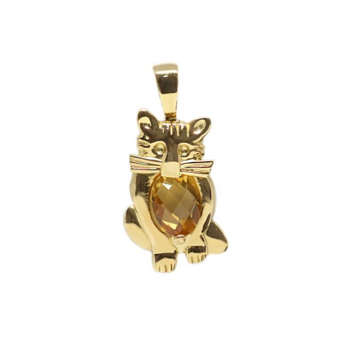Kuddly Kitty Pendant (750 Yellow Gold)