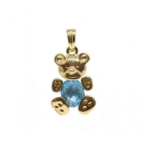 Topaz Teddy Pendant (750 Yellow Gold)