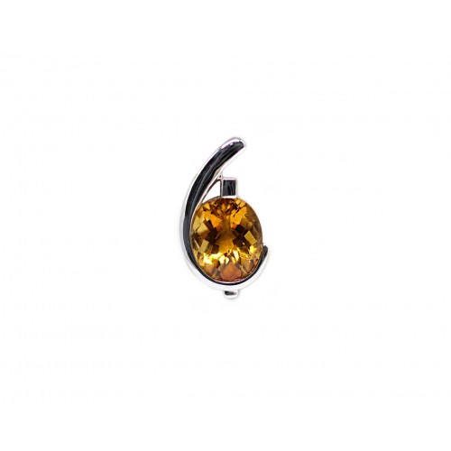 Citrine Pendant (750 White Gold)