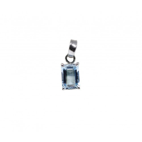 Aquamarine Pendant (750 White Gold)
